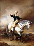 Portrait of George Washington Taking the Salute at Trenton