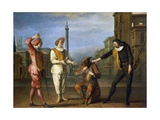 Tombeaux of Maitre Andre  Scene from Commedia Dell'Arte