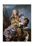 Gaspard De Gueidan Playing Bagpipes  Ca 1735