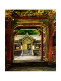 The 3rd Gate  Iyemitsu Temple  Nikko  Japan  C1886
