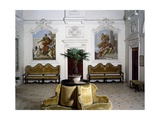 Glimpse of Living Room with Frescoes