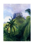 The Peak of Maua Roa  Moorea  Society Islands  1891