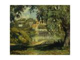 Village on the Banks of the River; Village Au Bord De La Riviere  C1900