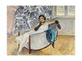 Woman with Black Gloves; La Femme Aux Gants Noirs  C1930