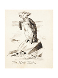 The Mock Turtle'- the Mock Turtle Sobbing on a Rock  C1865