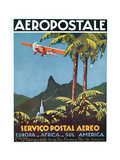Advertisement for the French Airmail Service  1929