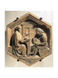 The Scholar Priscian  Teaching Two Students  1437