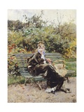 On Bench in Bois  Hyde Park  1872