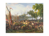 The French Army Crossing the Rhine at Dusseldorf  6th September 1795