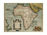 Map of African Continent Theatrum Orbis Terrarum by Abraham Ortelius