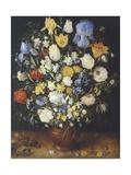 Bouquet of Flowers in Ceramic Vase