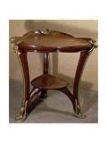 Art Nouveau Style Gueridon Three-Legged Table  1902