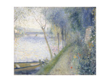Landscape at the Edge of the Seine with the Pont D'Argenteuil Giclée par Pierre-Auguste Renoir