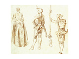 Study of a Young Woman and Two Huntsmen  C1712-13