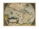 Map of American Continent  Theatrum Orbis Terrarum