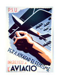 To Defeat Fascism Join the Air Force'  Republican Poster  1937