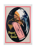Poster Advertising 'Indio Rosa' Cigarette Papers  C1925