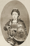 Portrait of a Female Warrior with Flowers in Her Hair  C1895