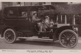 Miss Ellaline Terriss and Baby Betty in Thier 40 Hp 4 Cylinder Fiat Car