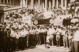 A 'Bonus Army' Demonstrating on Capitol Steps  Summer 1932