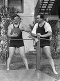 Al Capone Working Out at His Palm Island Home  Miami Beach  C1930