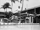 A Singer Entertains Guests  Poolside at the Sir John Hotel  May 11  1962