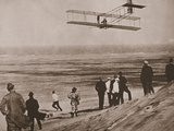 The Wright Brothers Testing an Early Plane at Kitty Hawk  North Carolina