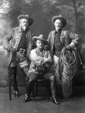 William F Cody with 'Pawnee Bill' and 'Buffalo Jones'  C1900-10