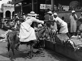 Vendors and Customers Outside the Iron Market in Port-Au-Prince  C1959