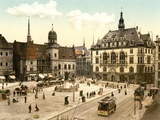View of the Market Place in Halle  Germany  Pub C1895