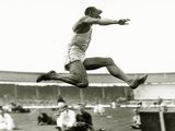 Jesse Owens in Action at the Long Jump During the Berlin Olympics  1936