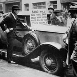 Man Selling His Car  Following the Wall Street Crash of 1929  1929