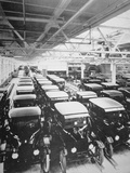 Completed Model T Ford Motorcars Await Delivery  1925