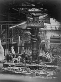 The Hand of the Statue of Liberty in the Monduit Workshop, 1876 Papier Photo