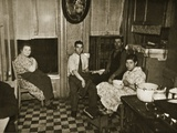 Residents of a Henry Street Tenement on the Lower East Side  Manhattan