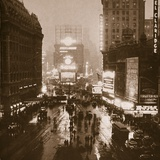 Winter Evening  Times Square  Broadway  New York  Early 1930S