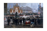 Ceremony for Laying of Foundation Stone of Galleria Victor Emmanuel II in Milan  March 7  1865