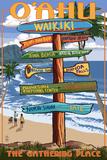 Waikiki  Oahu  Hawaii - Sign Destinations