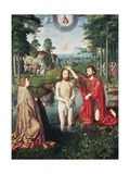 Baptism of Christ  Central Panel of Jean Des Trompes Triptych