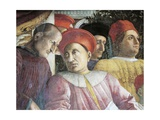Ludovico Gonzaga and Counselor Marsilio Andreasi  Detail from Court Wall  1465-1474