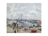 The Outer Harbour of Le Havre  Quai De Southampton  the Honfleur Boat Leaving the Harbour  1903