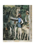 Horse  Mastiffs and Grooms of Count Ludovico Gonzaga  Detail from Wall of Meeting  1465-1474