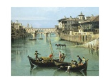 Arno River and Ponte Vecchio in Florence  1742