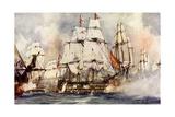 "The ""Victory"" at Trafalgar Nelson's Flagship Nearing the ""Santissima Trinidad"""