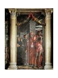 Saints John and Lorenzo and Two Saints  Detail from San Zeno Altarpiece  1456-1460