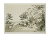 A Chapel of the Great Temple of Macao  Plate 10 from 'Sketches of China'  Engraved by Eugene Ciceri