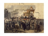 The Laying of the Cornerstone of the Galleria Victor Emmanuel II in Milan  March 7  1865