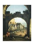 Roman Capriccio with Capitol  1743-1745