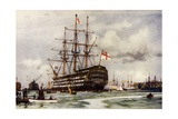 """The """"Victory"""" at Portsmouth  Came into Harbour from Last Commission Nov  1812"""