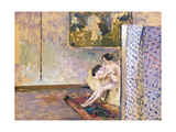 In Bonnard's Studio at 60 Rue De Douai: Nude by a Screen; Dans L'Atelier De Bonnard
